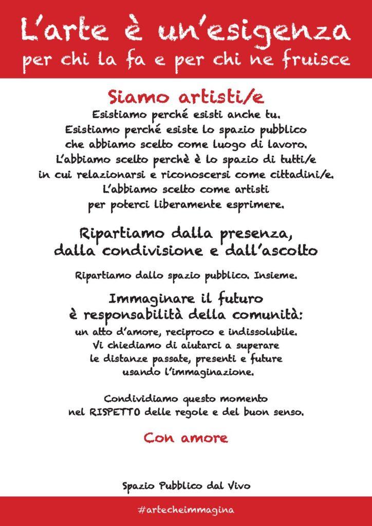 Iniziativa nazionale organizzata da Arte di Strada